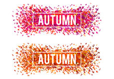 Autumn banners, vector set Stock Images