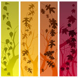 Autumn banners vertical Royalty Free Stock Image