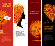 Autumn banners vertical for your design Royalty Free Stock Image