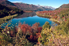Autumn in Bariloche, Patagonia, Argentina Stock Photo