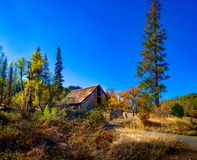 Abandoned Autumn Barn royalty free stock photography