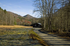 Autumn, Barn, Cataloochee Cove Royalty Free Stock Images