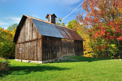 Autumn Barn in Michigan Sleeping Bear Dunes USA royalty free stock photo