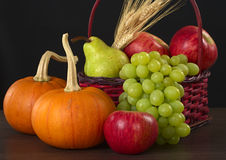 Autumn Basket Stock Image