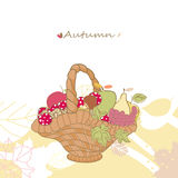 Autumn basket Stock Images