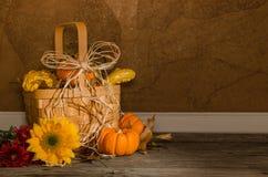 Autumn Basket Fotografía de archivo libre de regalías