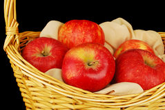 Autumn basket with apples. Stock Photography