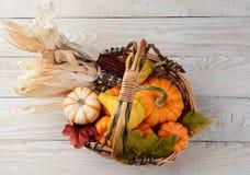 Autumn Basket Still Life Imagenes de archivo