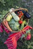 Autumn basket Stock Images