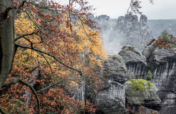 Autumn in Bastei, Germany Stock Images