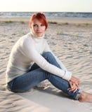 Autumn beach Stock Images