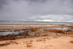 Autumn beach Stock Photography