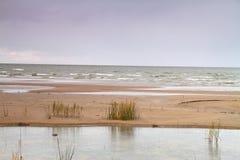 Autumn beach Stock Photo