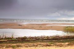 Autumn beach Stock Image