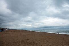 Autumn Beach in the Hague, Netherlands. Royalty Free Stock Images
