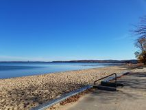 Autumn beach royalty free stock images