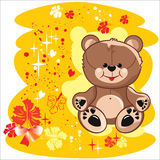 Autumn bear Stock Images