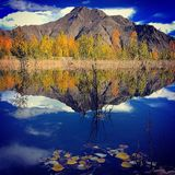 Autumn. The beautiful landscape of Tibet in autumn Stock Images