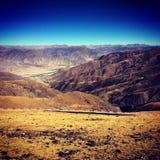 Autumn. The beautiful landscape of Tibet in autumn Stock Photos