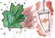 Autumn Beautiful Mood Illustrazione di Stock