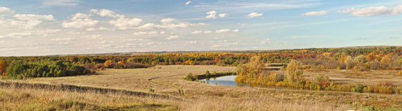 Autumn beautiful panoramic rural landscape Royalty Free Stock Images