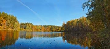 Autumn beautiful panoramic rural landscape Royalty Free Stock Photo