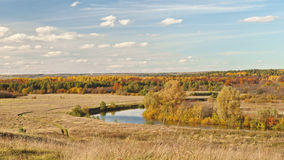 Autumn beautiful panoramic rural landscape Royalty Free Stock Photography