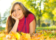 Autumn beauty 10. Beautiful girl enjoying an autumn day Royalty Free Stock Images