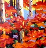 Autumn Beauty - acrylique sur la peinture de toile Image libre de droits