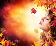Autumn Beauty - fashion Makeup stock images