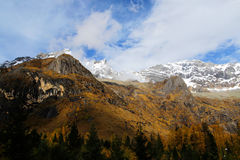 The autumn beauty of Four Girls Mountain. Four Girls Mountain is reputed as the Oriental Alps, located in Xiaojin County of Aba Tibetan and Qiang Autonomous Stock Photography