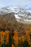 The autumn beauty of Four Girls Mountain. Four Girls Mountain is reputed as the Oriental Alps, located in Xiaojin County of Aba Tibetan and Qiang Autonomous Stock Photo