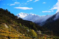 The autumn beauty of Four Girls Mountain. Four Girls Mountain is reputed as the Oriental Alps, located in Xiaojin County of Aba Tibetan and Qiang Autonomous Royalty Free Stock Photos