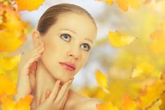 Autumn beauty girl Royalty Free Stock Image