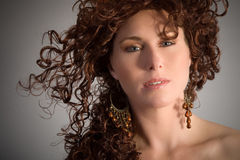 Autumn beauty portrait Stock Photography