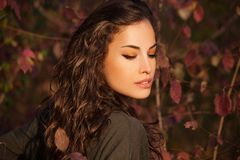Autumn beauty portrait royalty free stock photo
