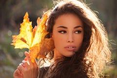 Autumn beauty portrait stock photo