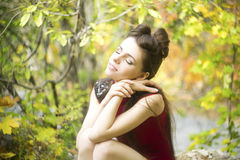 Autumn beauty woman portrait Royalty Free Stock Photography