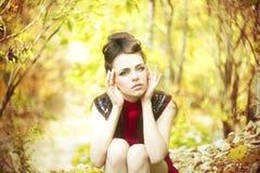 Autumn beauty woman portrait Stock Images