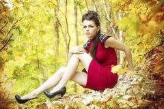 Autumn beauty woman portrait Royalty Free Stock Photos