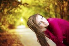 Autumn beauty woman portrait Royalty Free Stock Image