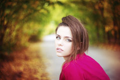 Autumn beauty woman portrait Royalty Free Stock Photo