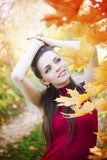 Autumn beauty woman portrait Royalty Free Stock Images