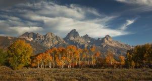 Autumn Below das Tetons Lizenzfreies Stockbild