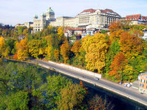 Autumn in Bern. In Switzerland royalty free stock image