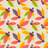 Autumn berries seamless pattern Stock Photos