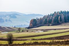 Autumn in the Beskid mountains in Poland. Stock Photos