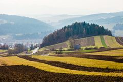 Autumn in the Beskid mountains in Poland. Royalty Free Stock Photography