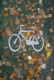 Autumn and a bicycle Royalty Free Stock Photos