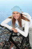 Autumn bicycling Royalty Free Stock Image